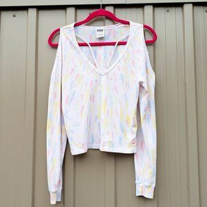 PINK Victoria's Secret Light Tie Dye Top